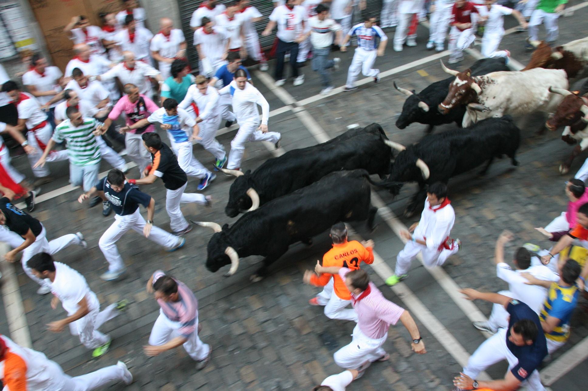 Encierro de San Fermín. Foto de Mikel Senosiain.